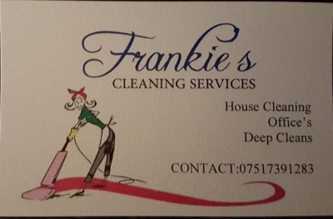 Frankie's cleaning services require 2 new team members