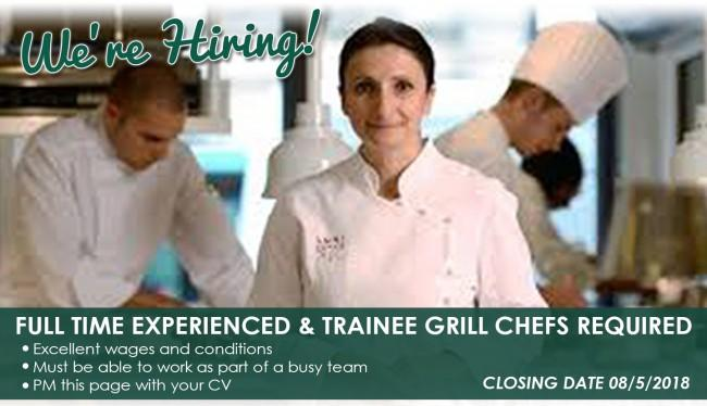 Chefs and Trainee required for the Greenvale