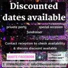 Planning a Party !! Discounted Dates Available